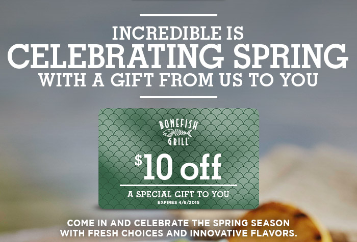 image relating to Bonefish Grill Printable Coupon called Discount coupons bonefish grill / Black friday bargains upon jewellery